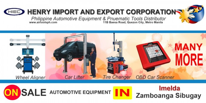 For sale Automotive Equipment in Imelda Zambonga Sibugay-Car lifter-tire changer-wheel aligner-scanner-engine-car