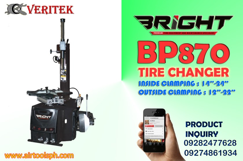 Bright B9870 Tire Changer Philippines