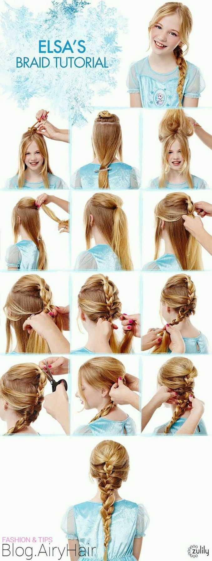 step by step: disney frozen elsa & anna step hair tutorials