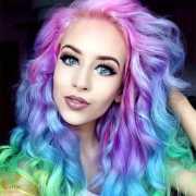 crazy rainbow hair extensions