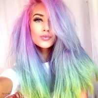 20+ Crazy Rainbow Hair Color Ideas for 2016
