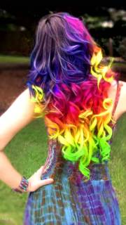 crazy rainbow hair extensions