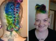 crazy rainbow hair color ideas