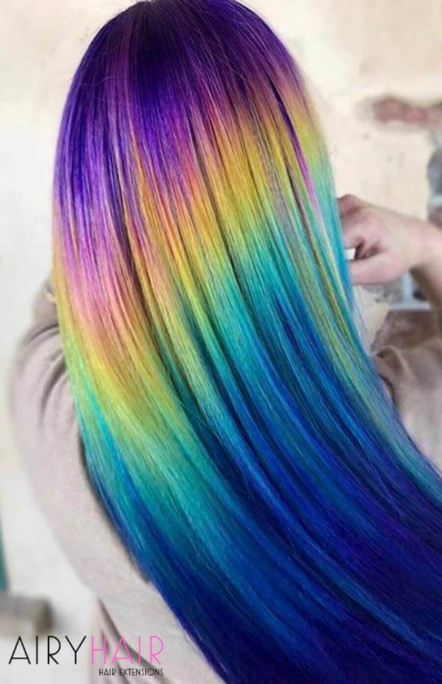 30 Best Colorful Party and Halloween Hairstyle Ideas