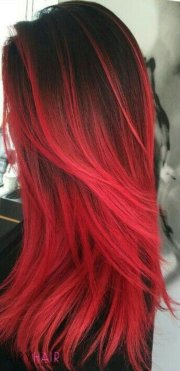 black and red ombr hair