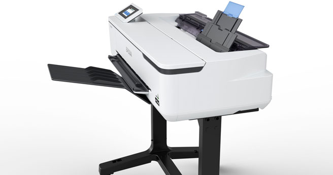 Epson T3160 large format printer on stand