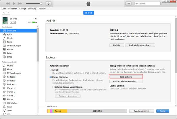 Gunakan iTunes untuk mengunduh PDF dari iPad ke PC