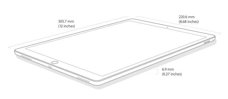 Caractérisques attractifs d'Apple iPad Pro