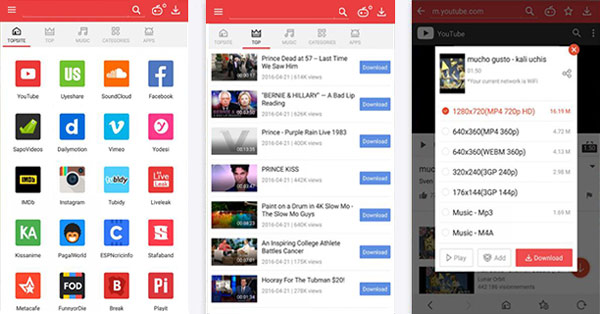 Programa para descargar videos para Android