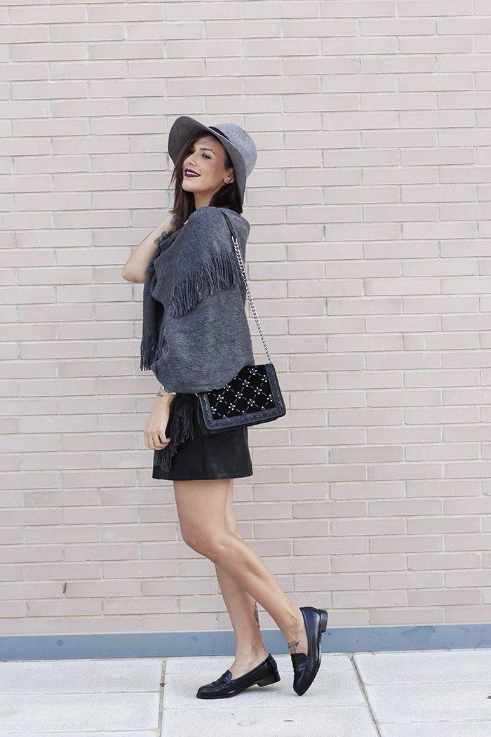 Sombrero gris Zara otono