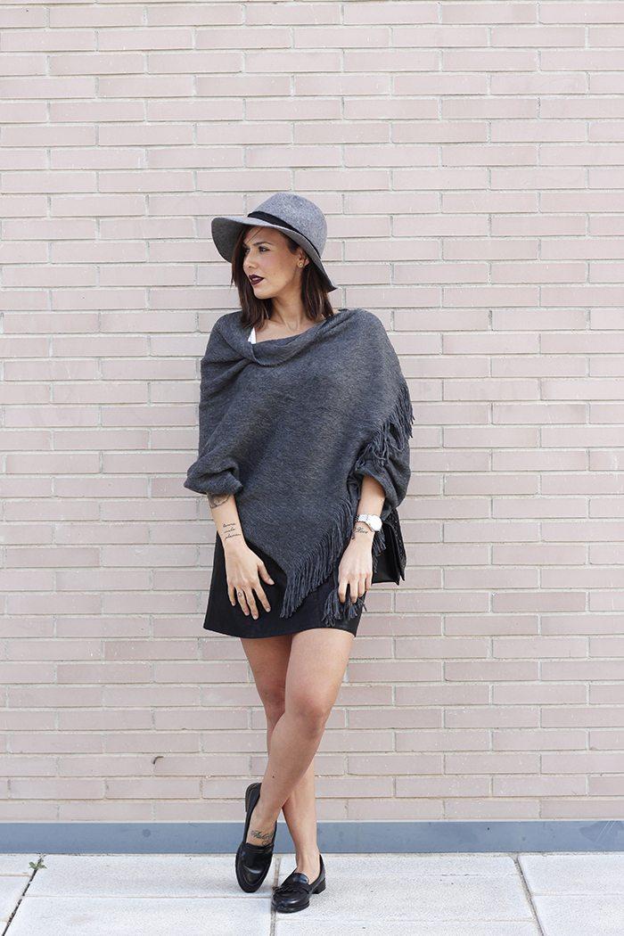 Sombrero gris zara