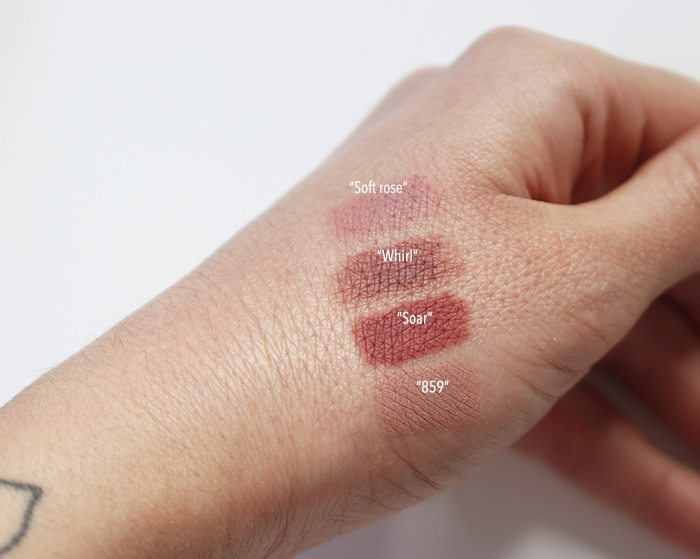 Lipliners swatches