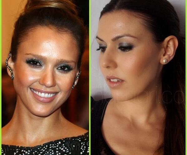 Get the look:Jessica Alba at 2013 MET INFO
