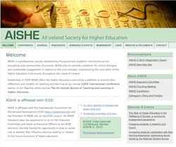 AISHE new web site image