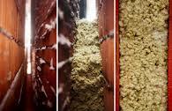 insuflado de lana mineral gruesa en muros