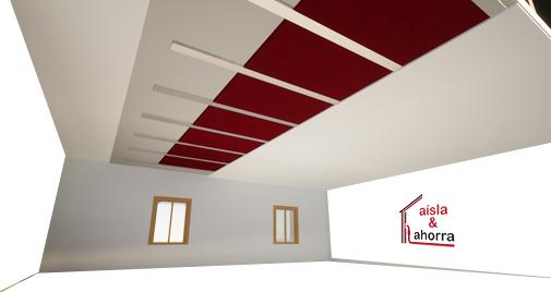 Aislamiento pladur falso techo