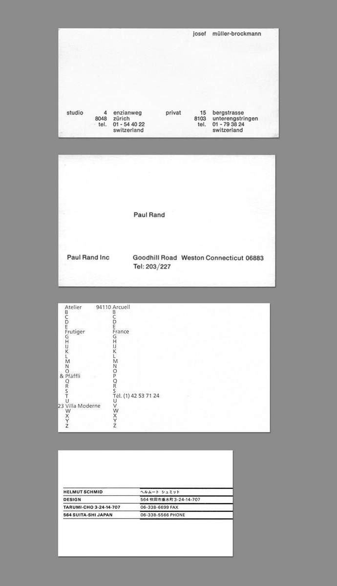 Brockmann Rand Business Cards