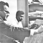 James W. Gair and W.S. Karunatilaka in 1966.