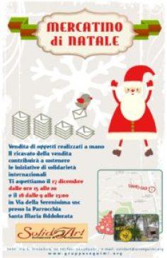 Il centro SolidArt di Roma invita al Mercatino di Natale il 17 e 18 dicembre 2016