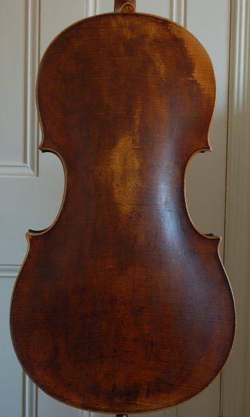 Fine German cello back