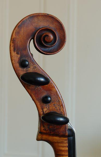 Fine German cello scroll