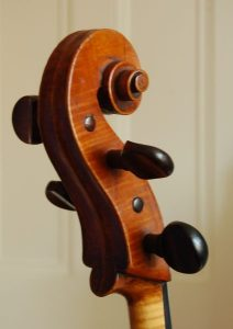 Preston School cello scroll