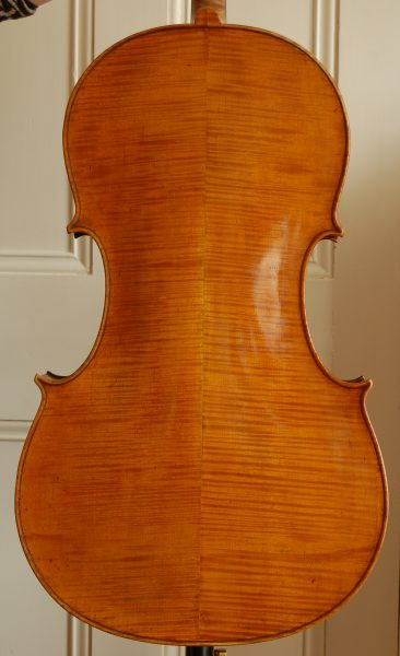 Carlo Antonio Testore cello back