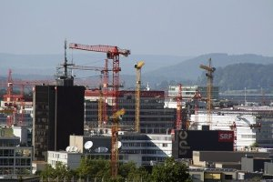 Zurich Oerlikon urban construction sites