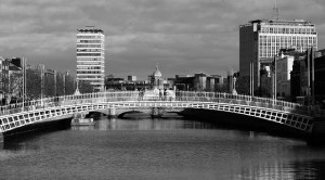 Dublin ha'penny bridge Dublin city