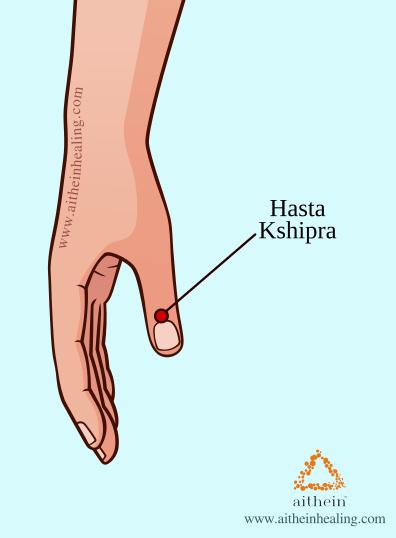ayurvedic acupressure - hasta kshipra