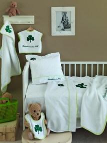 Κουβέρτα Fleece Κούνιας Baby Palamaiki Official Team Licenced Pao -Παο-Παναθηναικός