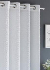 Κουρτίνα Με Τρουκς 140X260 Paris Λευκό