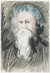 Tagore Sketched by Martin Monickendam in September 1920