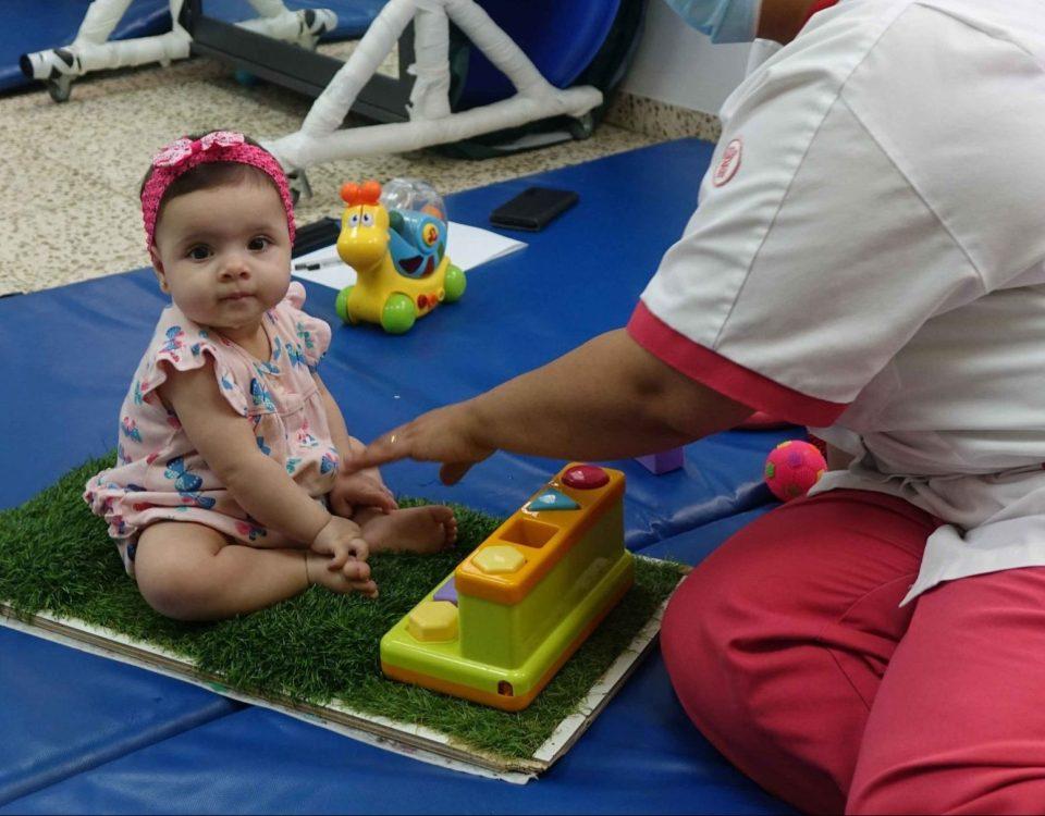 La piccola Ella al Caritas Baby Hospital