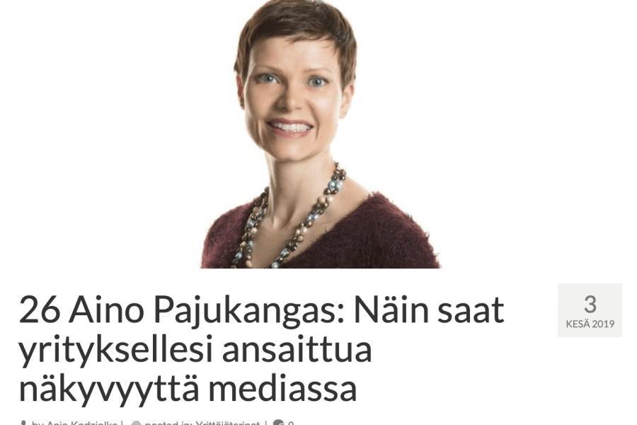 Aivelan Aino Pajukangas Mamaonbis-podcastissa