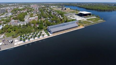 Hangar 1 projeté © Port de Trois-Rivières