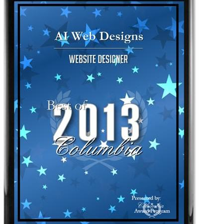 AI Web Designs, Receives 2013 Best Of Columbia Award
