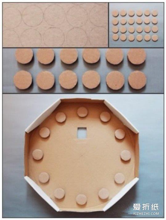兒童玩具掛鐘制作 簡單手工玩具鐘表的做法_愛折紙網