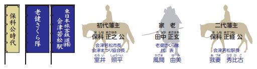 【2018隊列詳細①】保科公時代(会津若松市長・老健さくら隊・JR会津若松駅長)