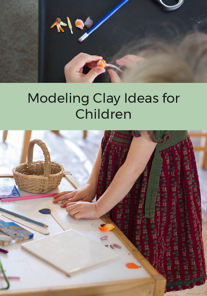modeling clay children