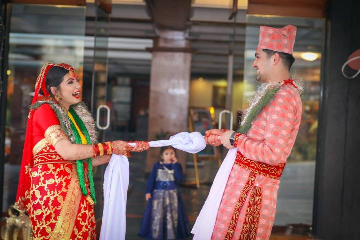 Marriage promises by Bride and Groom