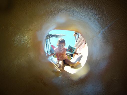 Tobogã tunel parque aquatico