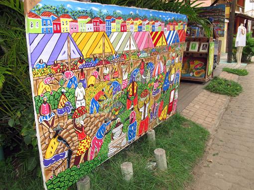 quadro colorido PRAIA DO FORTE