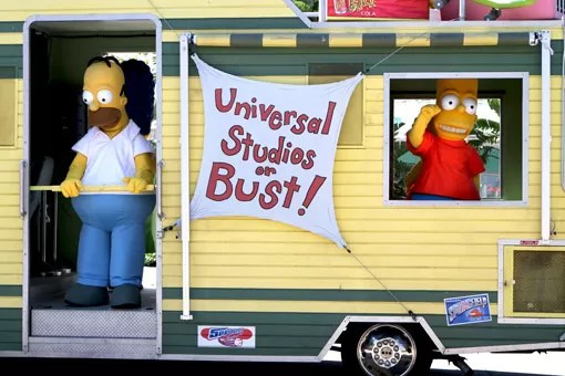 SIMPSONS NO UNIVERSAL STUDIOS