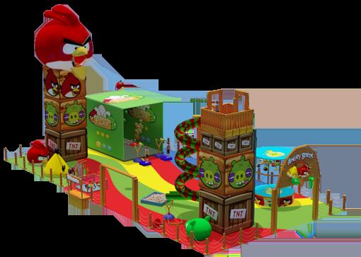 Ideia de como vai ficar o parque do Angry Birds no Mooca Plaza Shopping (Foto: Divulgação)
