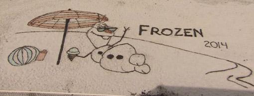 Frozen na praia