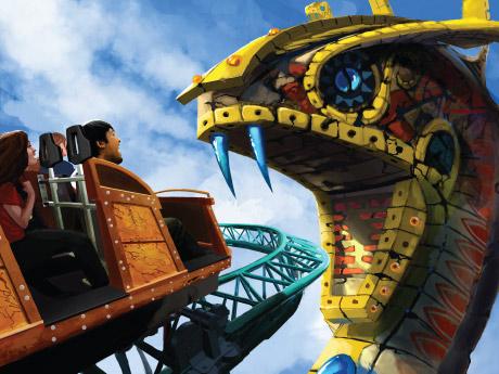 Nova montanha-russa no parque Busch Gardens