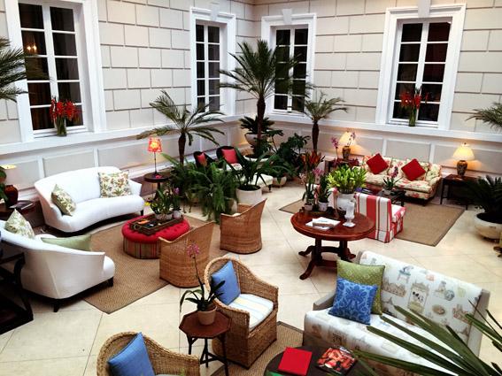 Casa Gangotena jardim de inverno