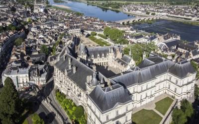 Vue aerienne Chateau Royal de Blois - J. David