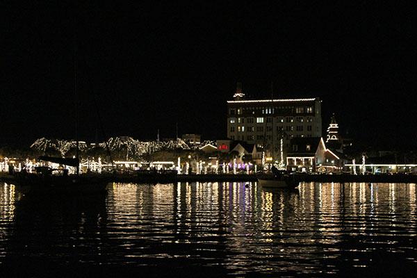 Nights of Lights Festival em St Augustine. As luzes do centro mais de perto